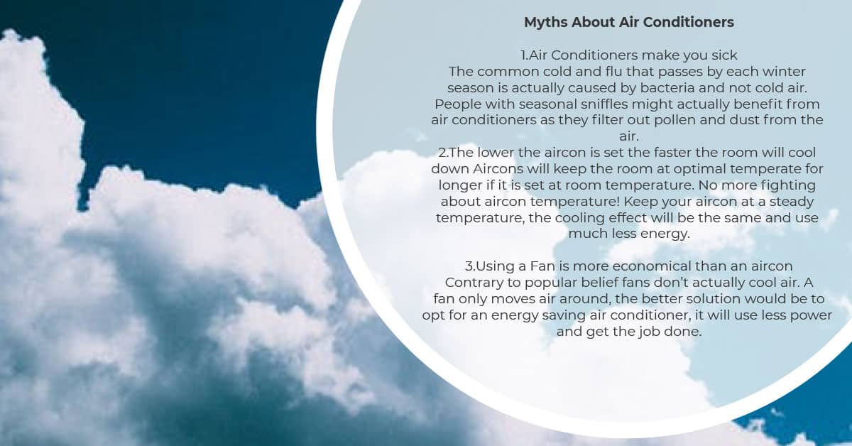 Myths about Air Conditioners
